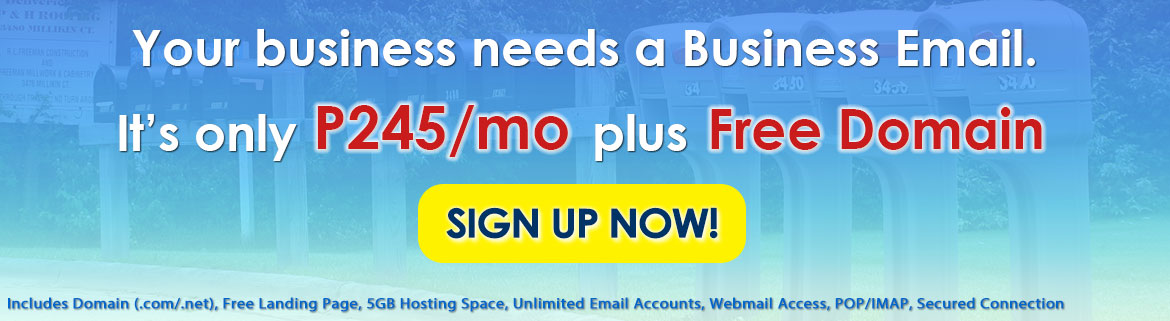 Affordable Email Hosting Package
